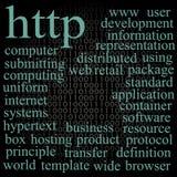 HTTP. De wolk van de markering. Royalty-vrije Stock Foto's
