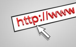 HTTP del direccionamiento del Web Imagen de archivo libre de regalías
