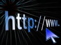 HTTP del internet address Imagen de archivo libre de regalías