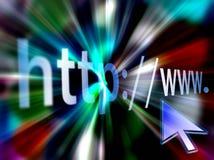 HTTP di internet address Fotografia Stock Libera da Diritti
