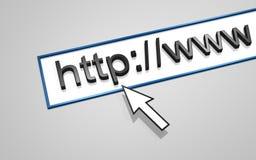 HTTP do endereço do Web Fotografia de Stock Royalty Free
