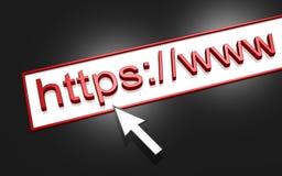HTTP do endereço do Web Foto de Stock Royalty Free