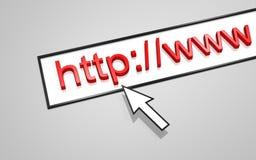 HTTP do endereço do Web Imagem de Stock Royalty Free
