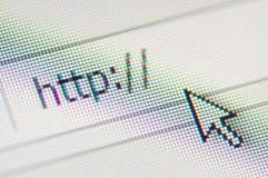 HTTP e cursor Fotos de Stock Royalty Free