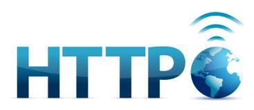 HTTP e globo Imagens de Stock