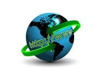 HTTP en ligne WWW de la terre Images libres de droits