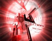 HTTP en www theme001 stock illustratie