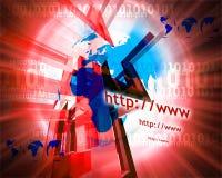 HTTP en www theme013 Royalty-vrije Stock Afbeeldingen