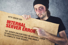 Http Error 500, Internal Server error page concept Royalty Free Stock Image