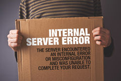 Http Error 500, Server error page concept royalty free stock image
