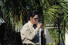 Artista do tributo de Elvis Fotografia de Stock Royalty Free