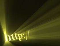 Http hyper link sign sun light flare Stock Images