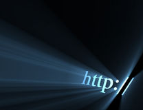 Http hyper link sign light flare Stock Photos