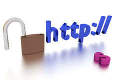 Http Insecure Connection Stock Image