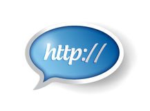 Http internet bubble concept illustration design Royalty Free Stock Image