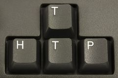 HTTP Internet Concept. On a computer keyboard Royalty Free Stock Photo