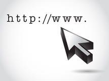 Http internet domain and cursor illustration Royalty Free Stock Photo