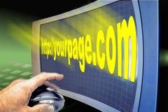http-internet screen rengöringsduken www Royaltyfri Bild
