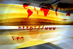 Http Layout 037. Graphical layout on http and www theme 037 stock illustration