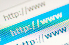 Http link. Macro shot of http link royalty free stock image