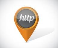 Http pointer icon illustration design. Over a white background Stock Photos