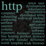 Http. Tag cloud. Royalty Free Stock Photos