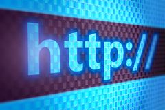 Http text on screen. 3D illustrationo of http text on screen Royalty Free Stock Images