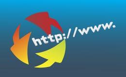 Http - vectors. World wide web click - vectors Stock Images