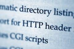 HTTP-Vorsatz lizenzfreies stockbild