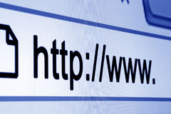 Http www browser bar. Internet address Stock Photos