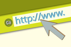 HTTP://WWW. Browser Closeup Royalty Free Stock Photos