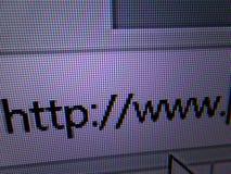 Http://www in der Adresszeile des Internet-Browsers Stockbild