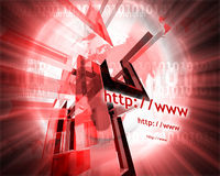 Http and www theme001. Http and www theme containing some elements of internet001 stock illustration
