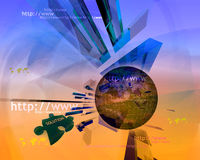 Http and www theme005. Http and www theme containing some elements of internet005 royalty free illustration