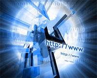 Http and www theme009. Http and www theme containing some elements of internet009 Royalty Free Stock Photos