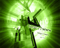 Http and www theme010 Stock Photo