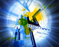 Http and www theme011. Http and www theme containing some elements of internet011 Stock Photography