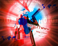 Http and www theme013. Http and www theme containing some elements of internet013 Royalty Free Stock Images