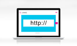 HTTP WWW Website Links Search Box Graphic Concept. HTTP WWW Website Links Search Box Graphic Stock Images