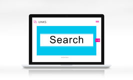 HTTP WWW Website Links Search Box Graphic Concept Royalty Free Stock Images