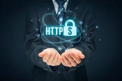 HTTPS-begrepp Royaltyfri Foto