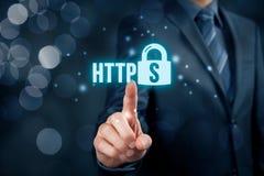 HTTPS-begrepp Royaltyfria Foton