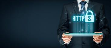 HTTPS-begrepp Fotografering för Bildbyråer