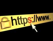 Https beschermde Web-pagina Royalty-vrije Stock Foto