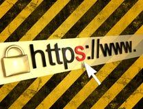 Https beschermde Web-pagina Royalty-vrije Stock Afbeeldingen