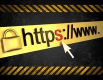 Https beschermde Web-pagina Royalty-vrije Stock Fotografie