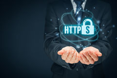 HTTPS concept Royalty Free Stock Image