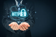 HTTPS concept Royalty Free Stock Images