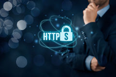 HTTPS concept Royalty Free Stock Photography
