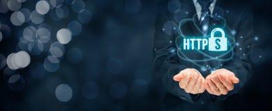 HTTPS pojęcie zdjęcie stock